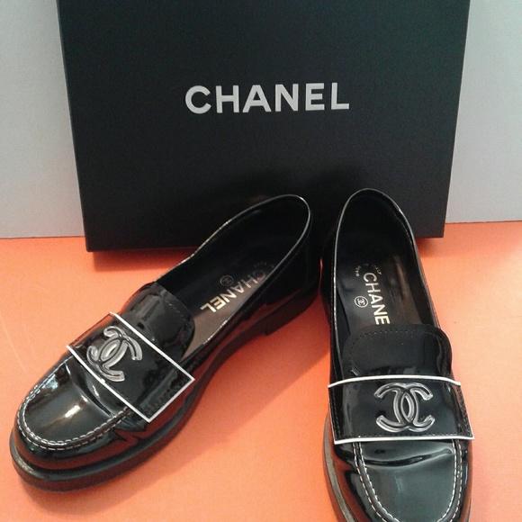 Chanel Blackwhite 2 Tone Patent Leather